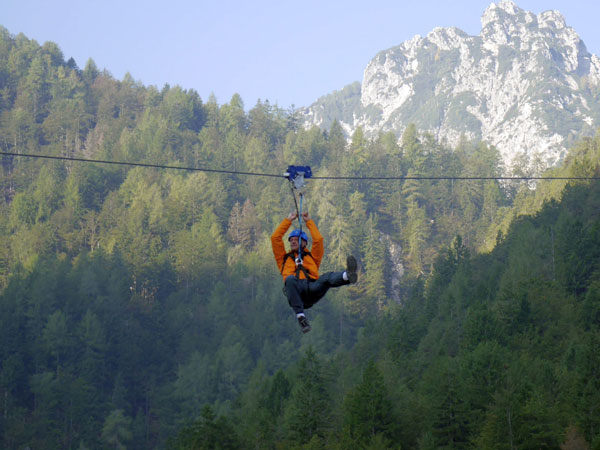 Skispringen light - Zipline in Planica/Slowenien